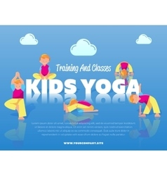 Training and classes kids yoga banner vector image vector image