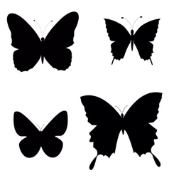 Black silhouettes of butterflies vector image vector image