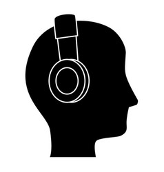 man with headphones avatar character vector image