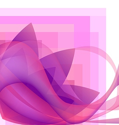 Pink abstract flower with waves background vector