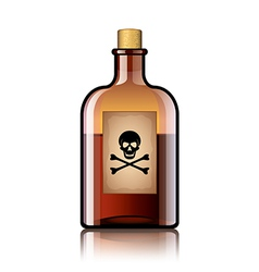 poison bottle isolated vector image vector image