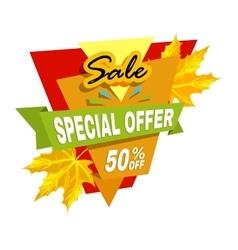 Special offer off banner Super mega sale vector image vector image