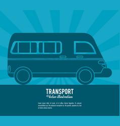 transport van vehicle design vector image