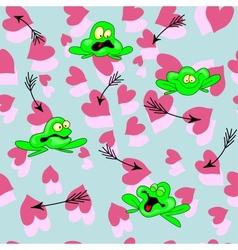Arrow Frog Heart vector image