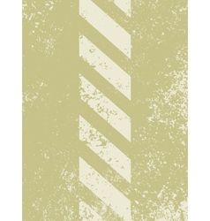grungy and worn hazard stripes vector image