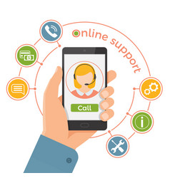 online support servicetechnical support call vector image vector image