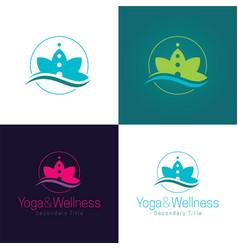 yoga and wellness logo and icon vector image