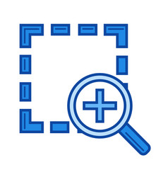 zoom in line icon vector image