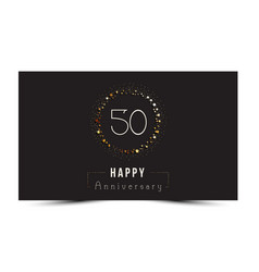 50 years happy anniversary card vector