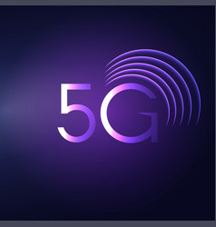 5g sign icon mobile telecommunications vector