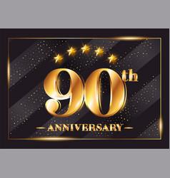 90 years anniversary celebration logotype 90th vector