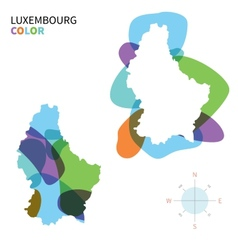 Abstract color map of Luxembourg vector