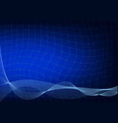 abstract dark blue background with a curved lines vector image