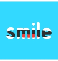 Abstract smile sign on blue background vector