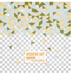 abstract triangle background 3d triangles modern vector image