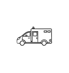 ambulance car hand drawn outline doodle icon vector image