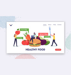 App for nutrition and dieting landing page vector