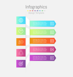 arrow infographic template layout for business vector image