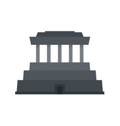 Asia temple icon flat style vector