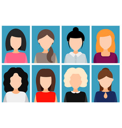 avatar girls without a face vector image