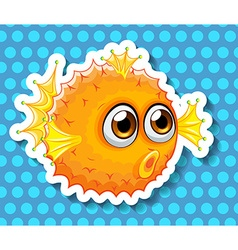 Balloon fish vector image