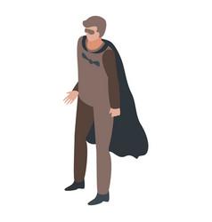 Bat superhero icon isometric style vector