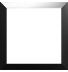 Black frame with a white background vector image