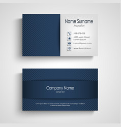 business card with blue pattern design vector image