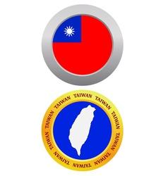 button as a symbol TAIWAN vector image