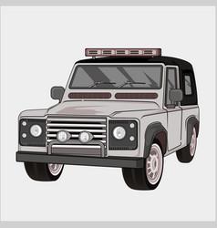 Car retrovintage classic jeep 4x4 vector