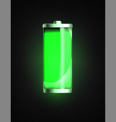 charged battery full charge battery battery vector image