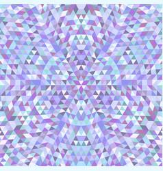 Circular triangle kaleidoscope mandala background vector