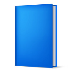 classic blue book in front vertical view isolated vector image