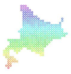 Colored hokkaido island map vector