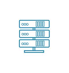 computer server linear icon concept computer vector image