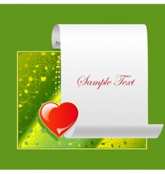 congratulatory green backgroundoun vector image vector image
