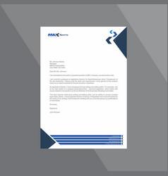 Corporate dark and light blue letterhead vector