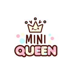 Crown and mini queen vector