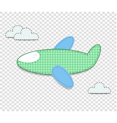 Cute baby clip art airplane for scrapbook or baby vector