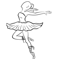 Dancing woman vector image