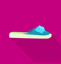 Domestic slipper icon flat style vector