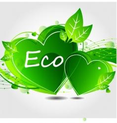 eco leaf background vector image
