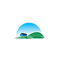 farming logo design template vector image