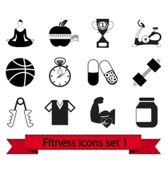Fitness icon 1 vector image