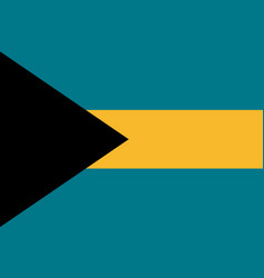 Flag bahamas flat icon vector