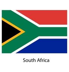 Flag of the country south africa vector image