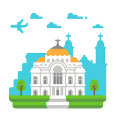 Flat design palace of fine arts vector