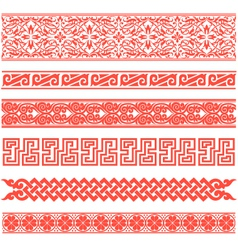 Floral scroll pattern vector