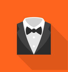 formal suit icon flat design vector image