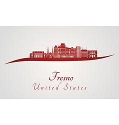 Fresno V2 skyline in red vector
